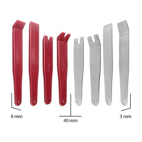Набір інструментів для знімання обшивки (сталь/поліуретан, 8 предметів) Прев'ю 3