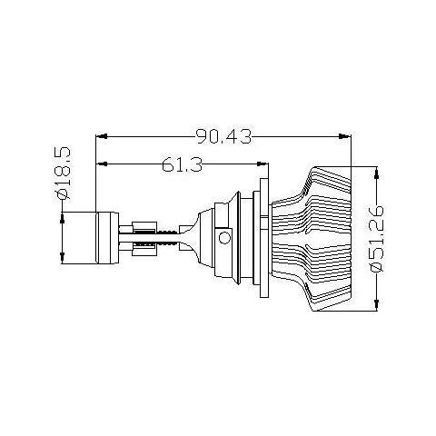 Набор светодиодного головного света UP-7HL-9007W-4000Lm (9007, 4000 лм, холодный белый) Превью 4