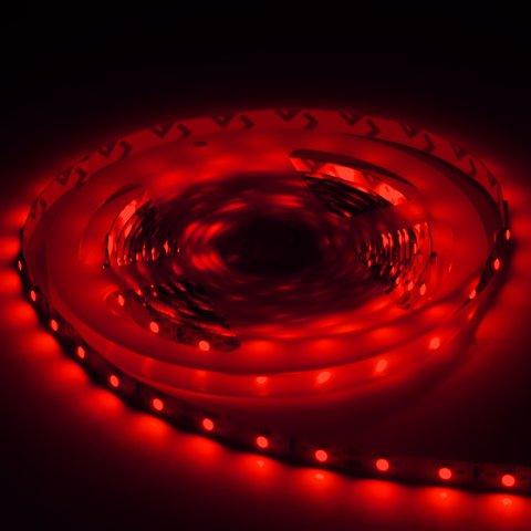 Светодиодная лента, IP65, червона, SMD 3528, без управления, 60 д/м, 1 м Прев'ю 2