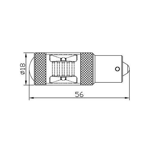 Car Rear-End Brake/Reverse LED Lamp UP-7G-1156FWB-30W(BA15S) (white, 12-24 V) Preview 1